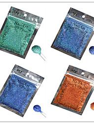 1pcs nail art beau coloré couleur paillettes laser poudre décoration des ongles diy l09-12