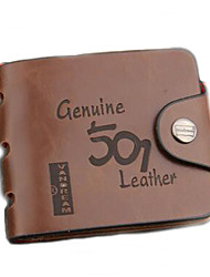 Men Wallets Hollow Out Genius Leather Coin Purses Holders Cow Leather Male Clutch Money Pocket