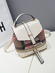 M.Plus® Women's Korean Fashion Stripes PU Leather Backpack
