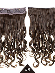 Heat Resistant Synthetic Cosplay Hair #8 24inch 60CM Long Wavy Curly Synthetic Hair Clip In Synthetic Hair