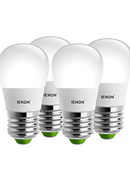 IENON®  4 pcs  3W E27 LED Globe Bulbs S14 6 SMD 240-270 lm Warm White / Cool White Decorative AC 100-240 V