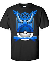Cartoon Games Men And Women Wear T Shirt-Blue