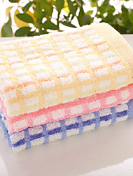 "1 Piece Full Cotton Wash Towel 9"" by 9"" Plaid Pattern Super Soft"