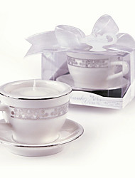 Beter Gifts®Recipient Gifts - Teacup Design Candle Holder with Tealight candle DIY Wedding Party Favors