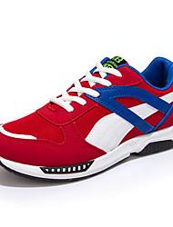 Herren-Sneaker-Sportlich-PU-Flacher Absatz-Komfort-Schwarz Blau Rot