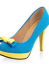Women's Shoes Customized Materials Stiletto Heel Heels Heels Wedding / Party & Evening / Dress / Casual Blue / Yellow