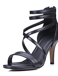 Women's Shoes Calf Hair Stiletto Heel Heels / Gladiator Sandals Party & Evening / Dress / Casual Black / Pink / Beige