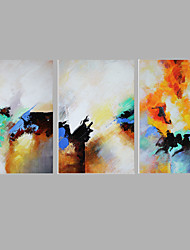 Iarts Colorful Design Modern Abstract Painting Stretchered 50x50x3pcs (20 x20 inch x3) Stretchered Ready to Hang