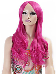Synthetic Wigs Long Curly Wave Synthetic Hair Rose Color Wigs For Women Cosplay Christmas Wig
