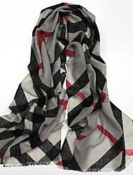Women's Fashion 100% Wool Lattice Printed Scarf