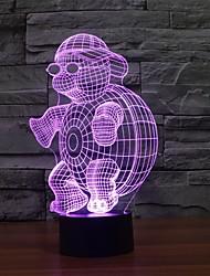 lampe colorée usb salon lampe de chevet décoration chambre 3d conduit nuit de changement de couleur de lumière