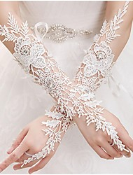 Elbow Length Fingerless Glove Lace Bridal Gloves Spring Summer Fall lace