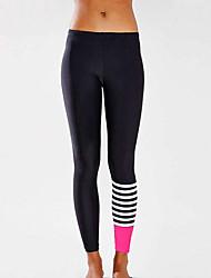 Women's Color Block Black Active / Skinny Pants,Active