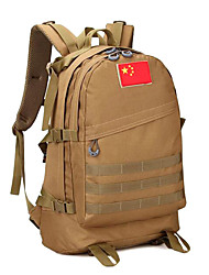 55 L Backpack Camping & Hiking Outdoor Multifunctional Brown Canvas Other