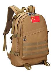 55 L sac à dos Camping & Randonnée Extérieur Multifonctionnel Marron Toile Other