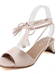 Черный / Миндальный-Женская обувь-На каждый день-Полиуретан-На толстом каблуке-На каблуках-Обувь на каблуках