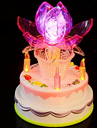 Rotating Led Music Lotus Lamp