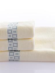 Ensemble de serviette de bain Bleu Brun,Fil teint Haute qualité 100% Coton Serviette