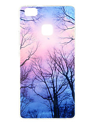 Purple Forest Pattern TPU Soft Case Phone Case for Huawei Series Model