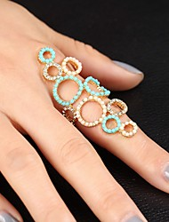 Statement Rings Vintage Round Colorful Rhinestone Shining Ring(6 7 8 9 Assorted)
