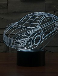 3D Car Shape Lamp 0.5w Acrylic Night Light Color-Changing Night Light