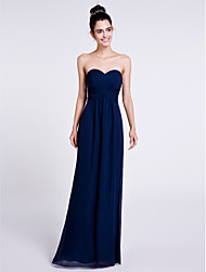 Lanting Bride Floor-length Chiffon Bridesmaid Dress Sheath / Column Sweetheart with