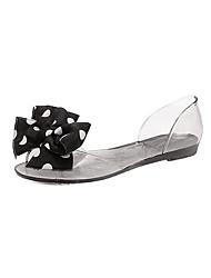 Damen-Loafers & Slip-Ons-Lässig-PU-Flacher Absatz-Komfort-Schwarz Weiß