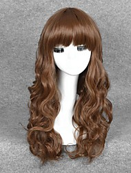 Cosplay Wigs Brown Color Synthetic Cheap Wave Wigs Fashion Wigs