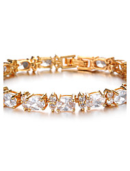 Women's Gold/Silver Chain Bracelet with Crystal