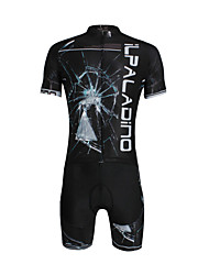 ILPALADINO Maillot de Ciclismo con Shorts Hombre Unisex Manga Corta Bicicleta Camiseta/Maillot Shorts/Malla corta Sets de Prendas Secado