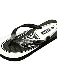 Men's Slippers & Flip-Flops Summer Flip Flops PU Casual Flat Heel Others Black / Brown / Yellow / Red