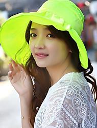 Mujer Sombrero de Paja Casual - Verano - Lino