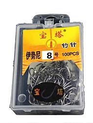 Pin anzol 8 de pesca (100 unidades)