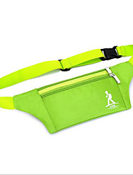 Men PVC Formal Waist Bag Green / Gray