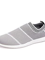 Черный / Белый Мужская обувь На каждый день Тюль Без застежки
