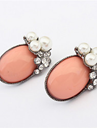 Fashion Wild Oval Pearl Earrings