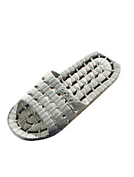 Men's Shoes PVC Casual Slippers & Flip-Flops Casual Water Shoes Flat Heel Hollow-out Gray