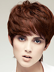 Women Bob Short Curly Brown Synthetic Wigs Heat Resistant Fiber Cheap Cosplay Party Wig Hair