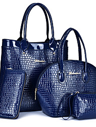 Women PU Formal / Casual / Office & Career / Shopping Bag Sets Blue / Red / Black