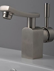 Bathroom Sink Faucet in Modern Style Single Handle Waterfall Bathroom Sink Faucet  /Mixer Tap(Nickel Brushed)