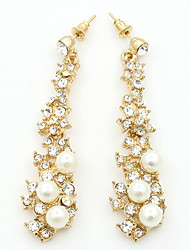 Crystal Imitation Pearl Rhinestone Alloy Fashion Geometric Gold Jewelry Wedding Party Daily Casual Sports 1 pair