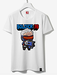 Inspired by Overwatch Soldier 76 Cotton T-shirt