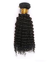 """4 unidades / lote 10 """"-26"""" não transformados brasileiros encaracolado Kinky tramas do cabelo virgem preto 1b # Remy cru feixes naturais"""