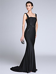 TS Couture®Formal Evening Dress Trumpet / Mermaid Straps Sweep / Brush Train Jersey with Beading