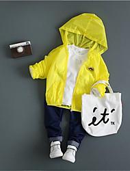 Casual/Dagelijks-Patchwork-Katoen-Zomer-Girl's-Kostuum & Blazer-Groen / Geel