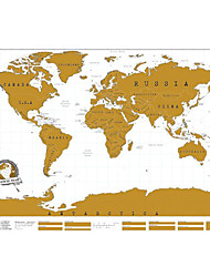 Scratch Ticket Map Of The World Poster Scratch Map