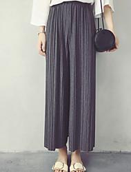 Women's Solid Blue / Beige / Black / Gray  Sweet Loose Pants,Simple