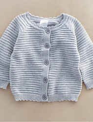 Girl's Casual/Daily Solid Sweater & Cardigan,Cotton Spring / Fall Gray