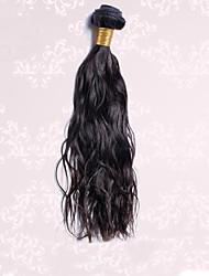"""Толщиной 1шт / много 12 """"-30"""" бразильские волосы девственные натуральный черный волос естественная волна человеческих волос ткет"""
