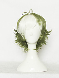 Cosplay Wigs Kabaneri Of The Iron Fortress Ikoma Green Short Anime Cosplay Wigs 35 CM Heat Resistant Fiber Female